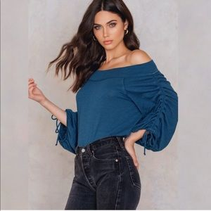 New Free People Bohemia Off the Shoulder Blouse